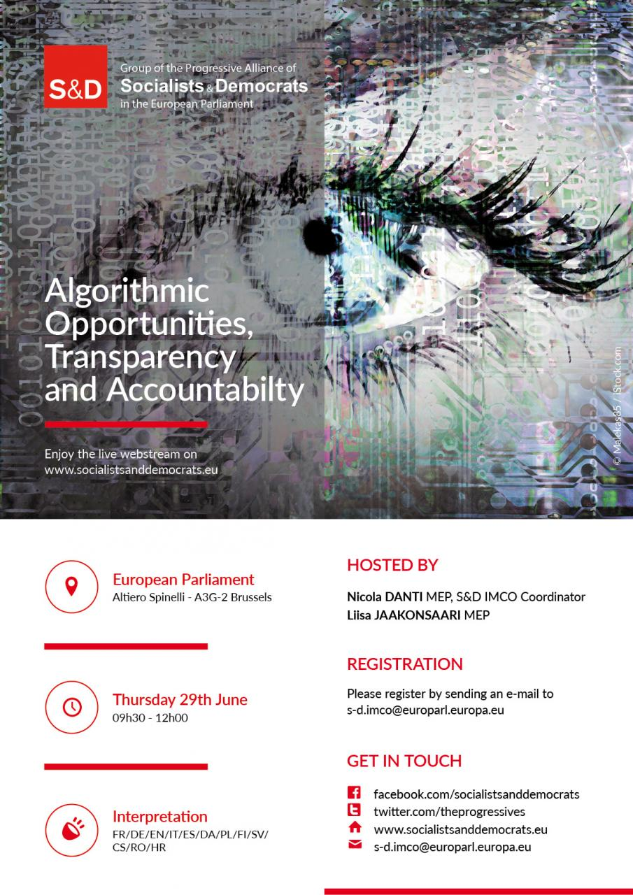 S&D Roundtable on the Algorithmic Opportunities, Transparency and Accountability.