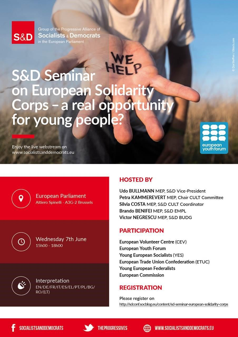 European Solidarity Corps - a real opportunity for young people Poster