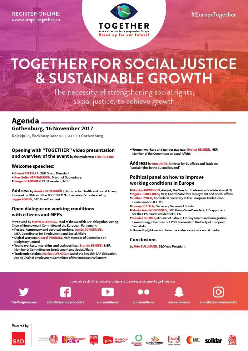 Together for social justice & sustainable growth.