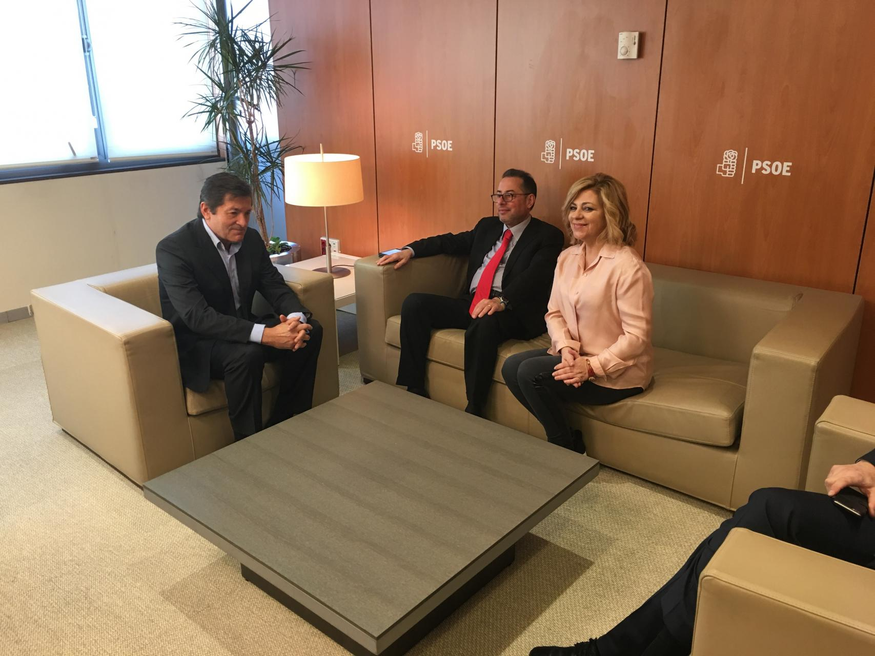 Pittella and Valenciano meet Fernandez (PSOE)