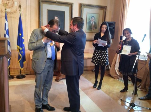 Pittella and Mayor of Athens Giorgio Kamini - Honorary citizen of Athens ceremony 17 March 2017