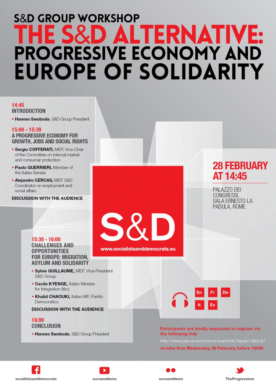 S&D Group Workshop : The Alternative - Progressive Economy and Europe of Solidarity