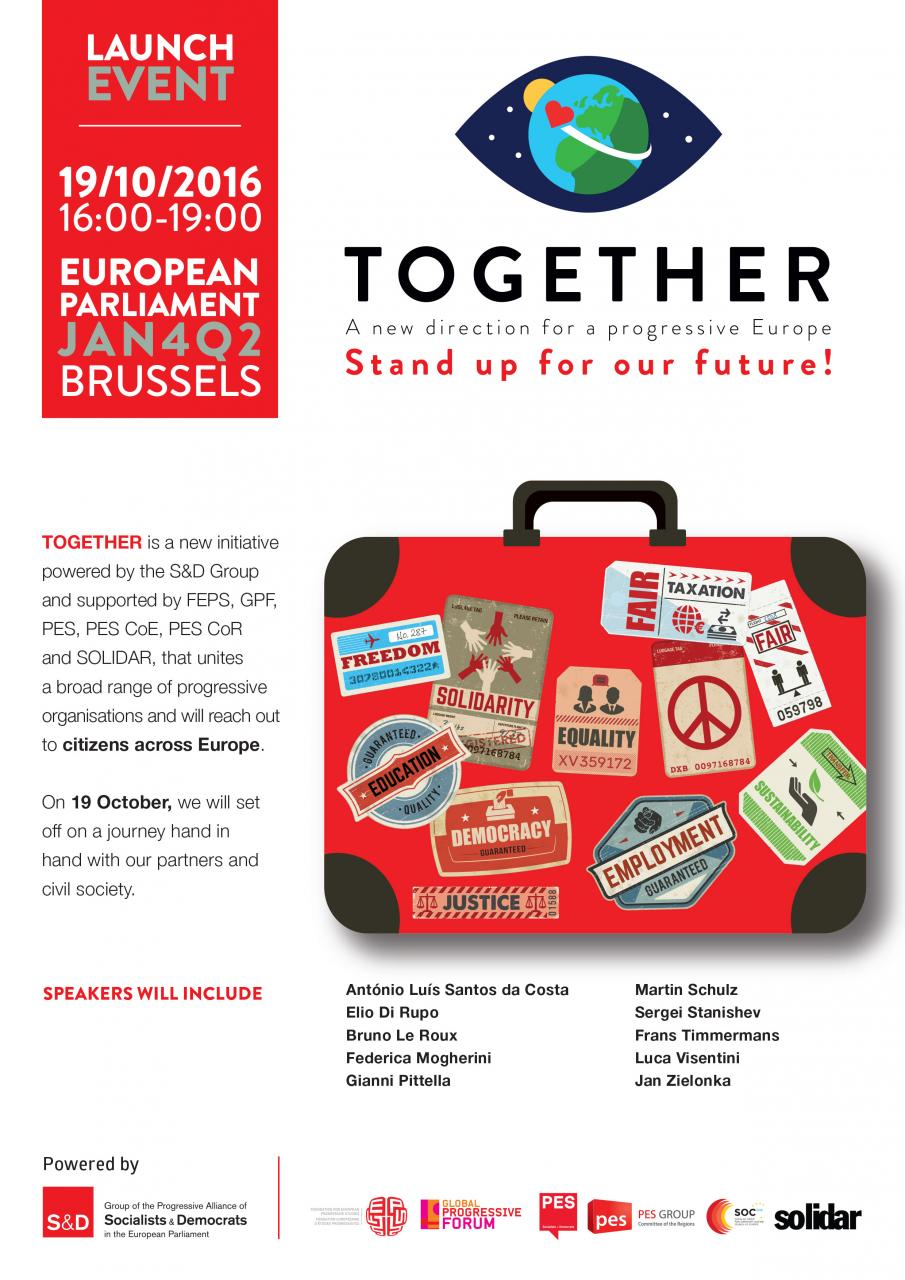 Together - A New Direction for a Progressive Europe - Stand Up for Our Future!, #EuropeTogether,