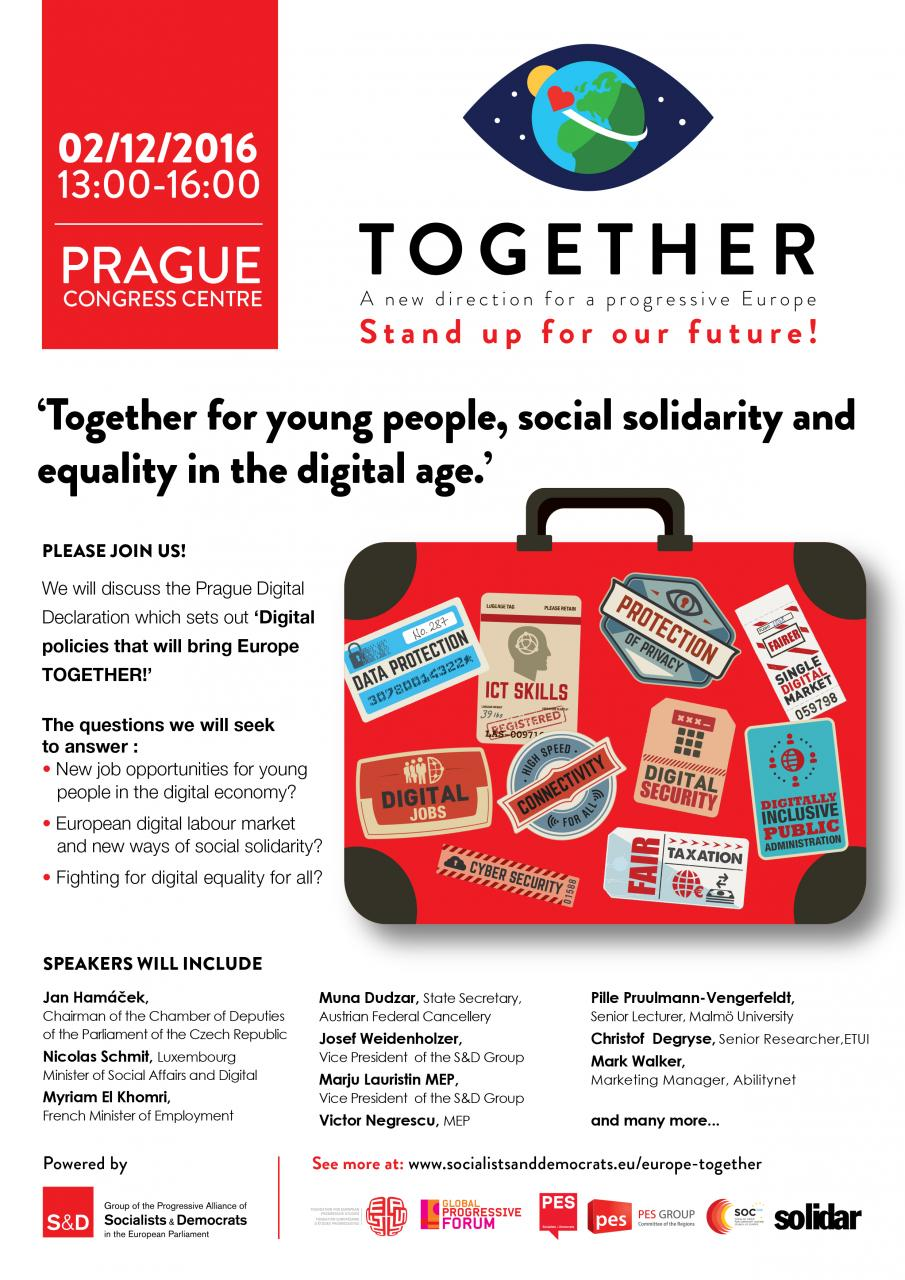 Together for young people, social solidarity and equality in the digital age