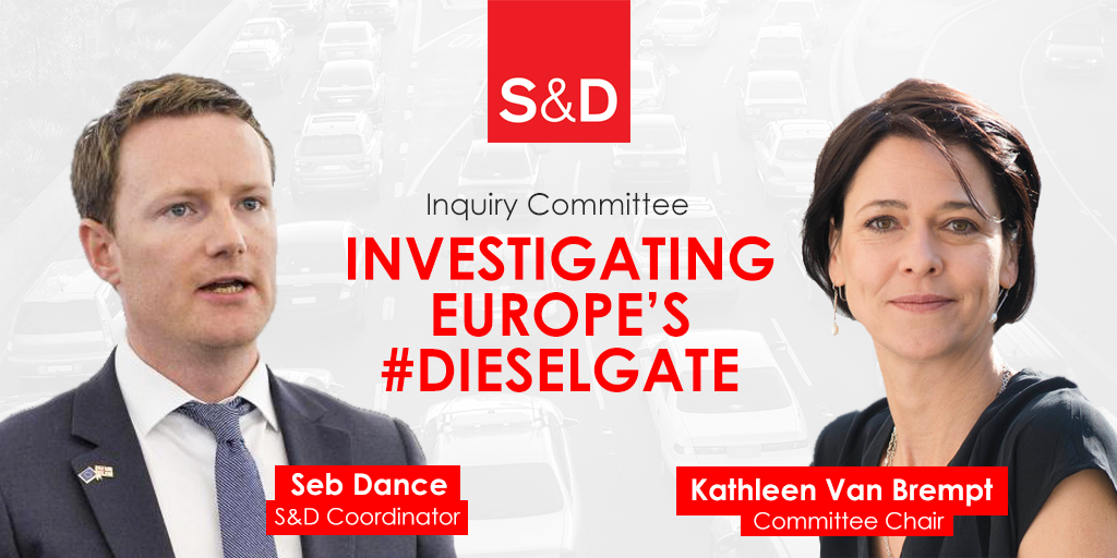 S&D MEP Kathleen Van Brempt to chair the dieselgate inquiry committee, 45-member committee of inquiry into the Emission Measurements in the Automotive Sector (EMIS), automotive sector, consumers rights, environmental impact, Gianni Pittella, kathleen van