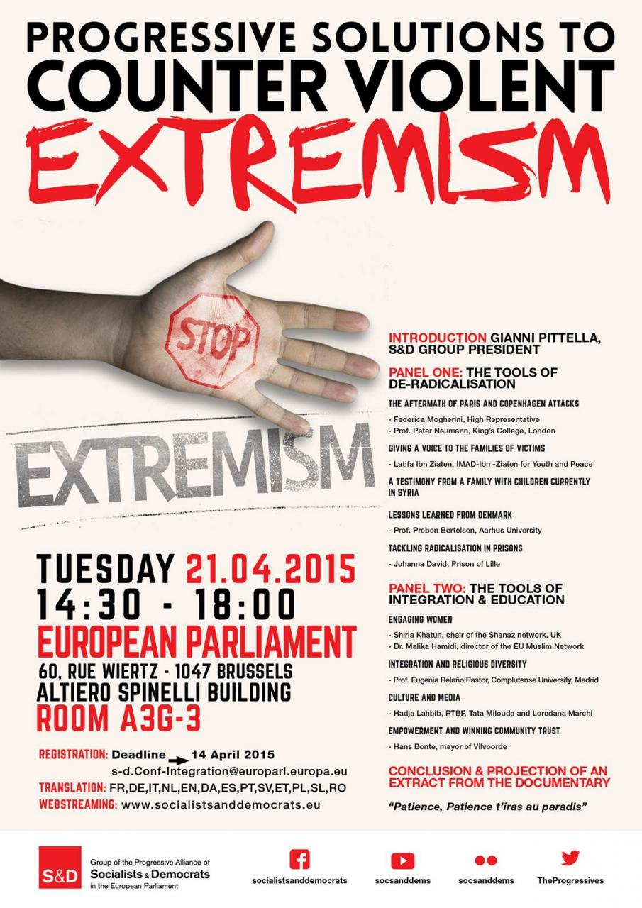 S&D Conference: Progressive Solutions to Counter Violent Extremism