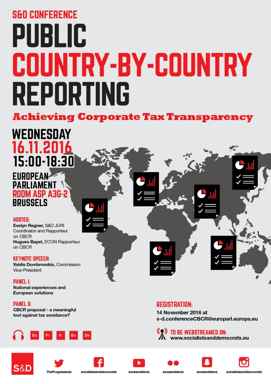 S&D Conference:  Public Country-By-Country Reporting. Achieving Corporate Tax Transparency