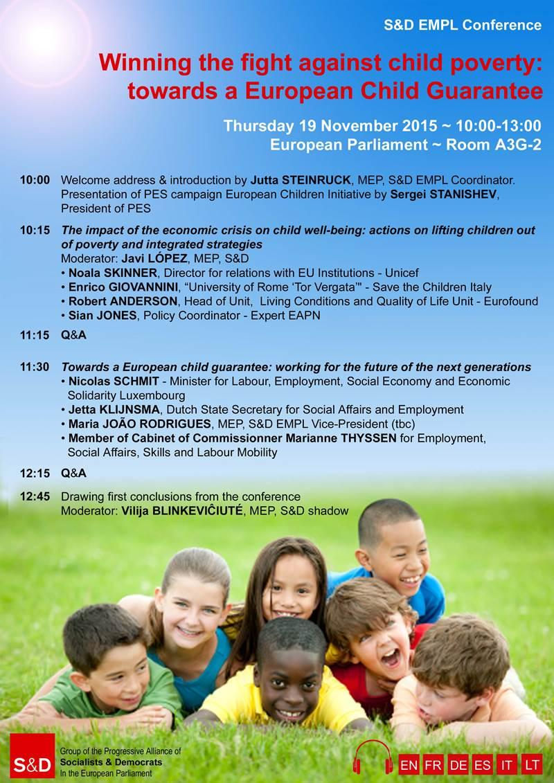 S&D Conference: Winning the Fight Against Child Poverty : Towards a European Child Guarantee