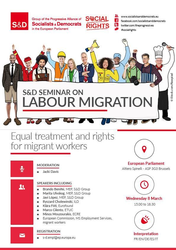 S&D Seminar: Equal Treatment and Rights for Migrant Workers (Labour Migration).