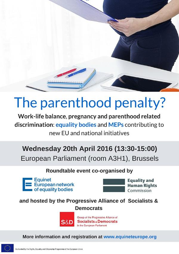The Parenthood Penalty? - Hosted by the S&D Group, Arena, Honeyball, gender equality,