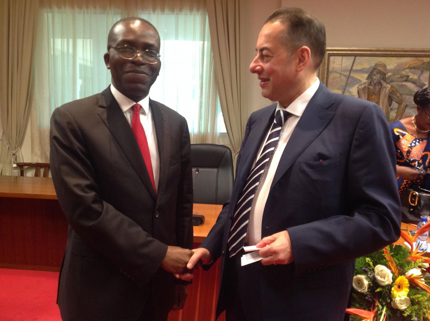 Gianni Pittella with with the prime minister of the RDC M. Augustin Matata Ponyo