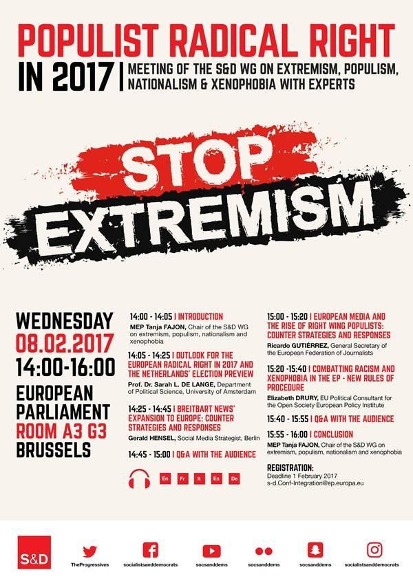 Populist Radical Right in 2017 - Meeting of the S&D WG on Extremism, Populism, Nationalism & Xenophobia with Experts.