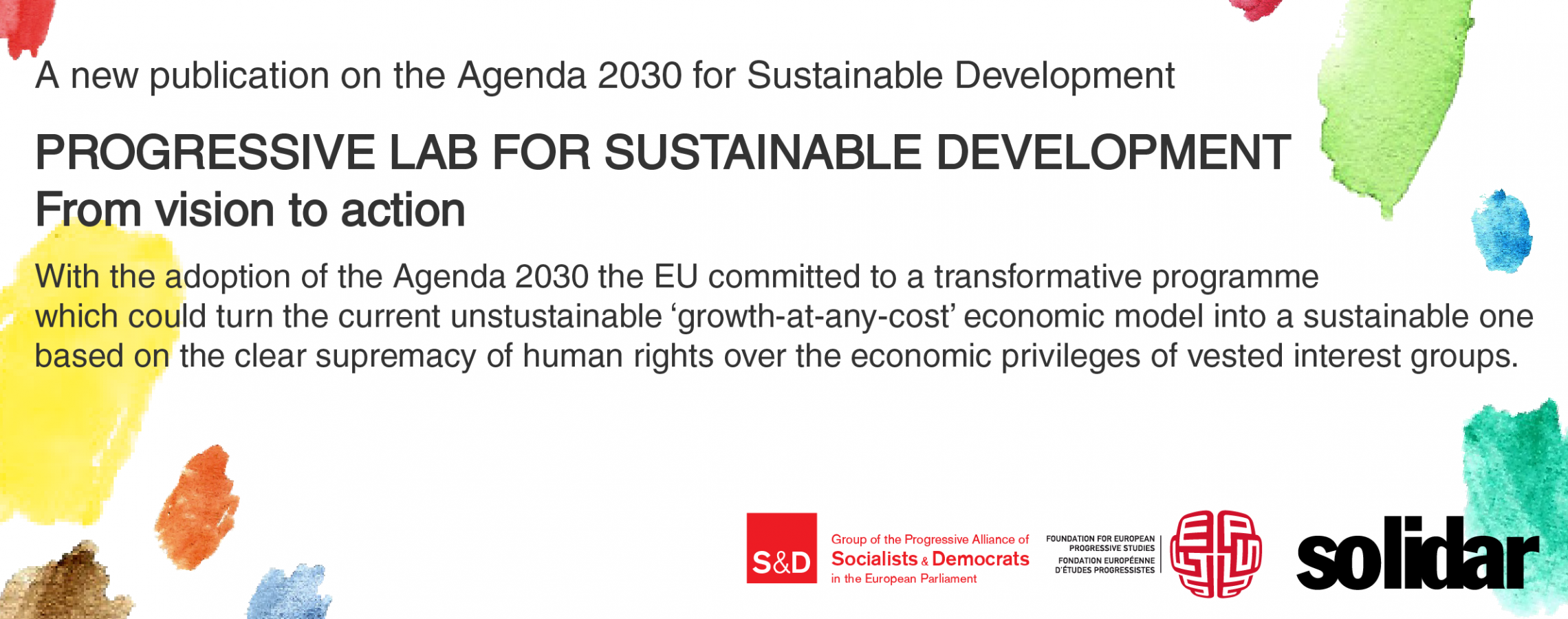 Poster: Progressive Lab for Sustainable Development: From vision to action.