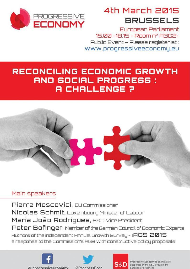 Progressive Economy debates reconciling growth with social progress