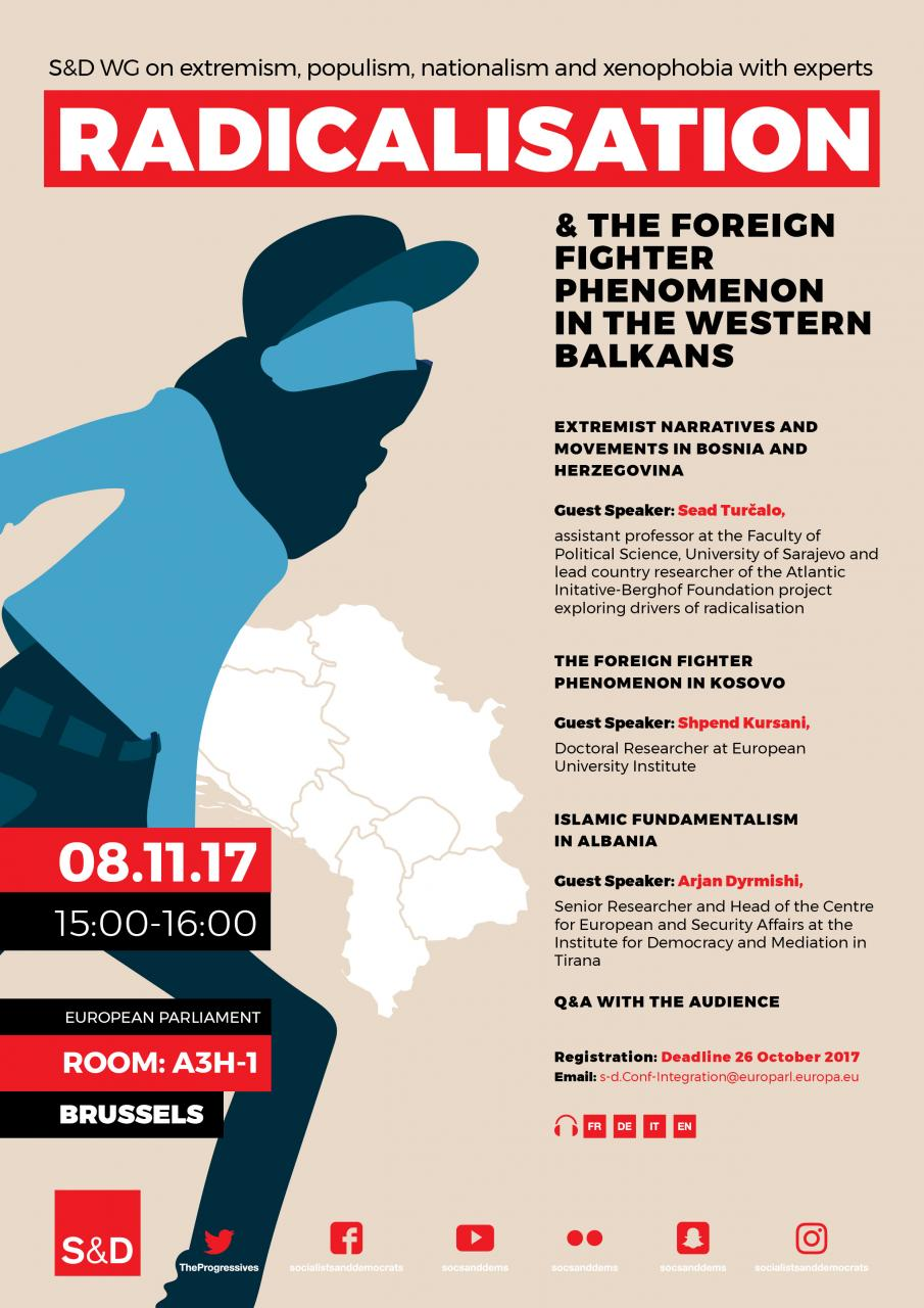 Poster: Radicalisation & the foreign fighter phenomenon in the Western Balkans.