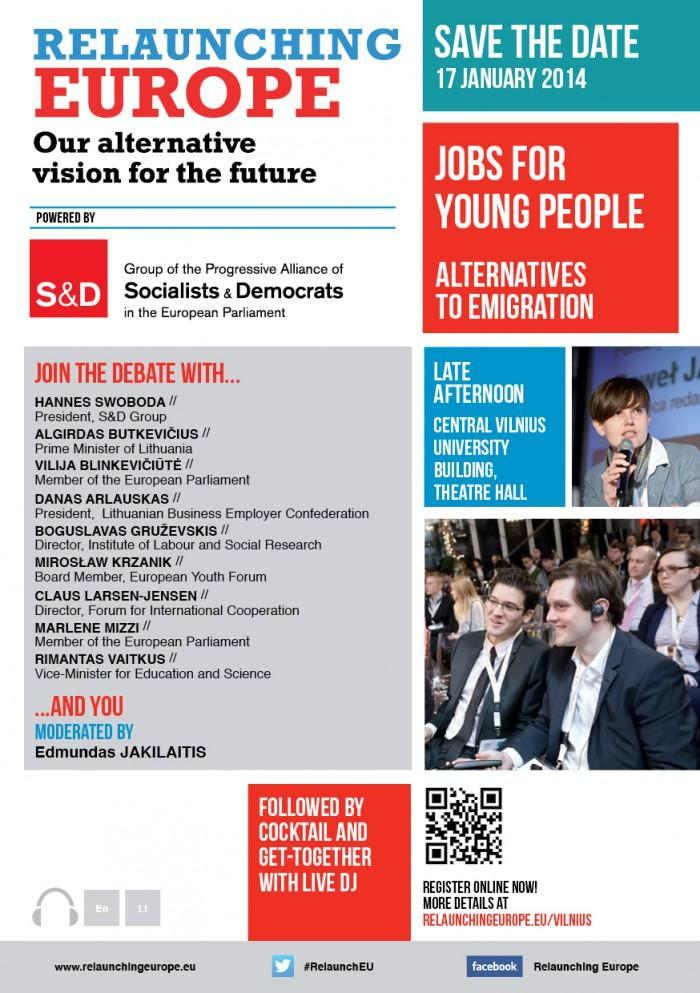 Relaunching Europe in Vilnius - Jobs for young people: Alternatives to emigration