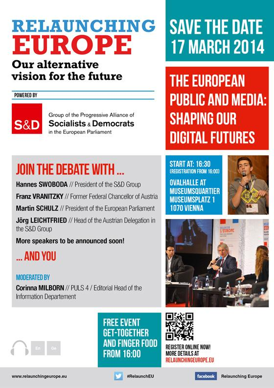 Relaunching Europe in Vienna - The European public and media: Shaping our digital futures
