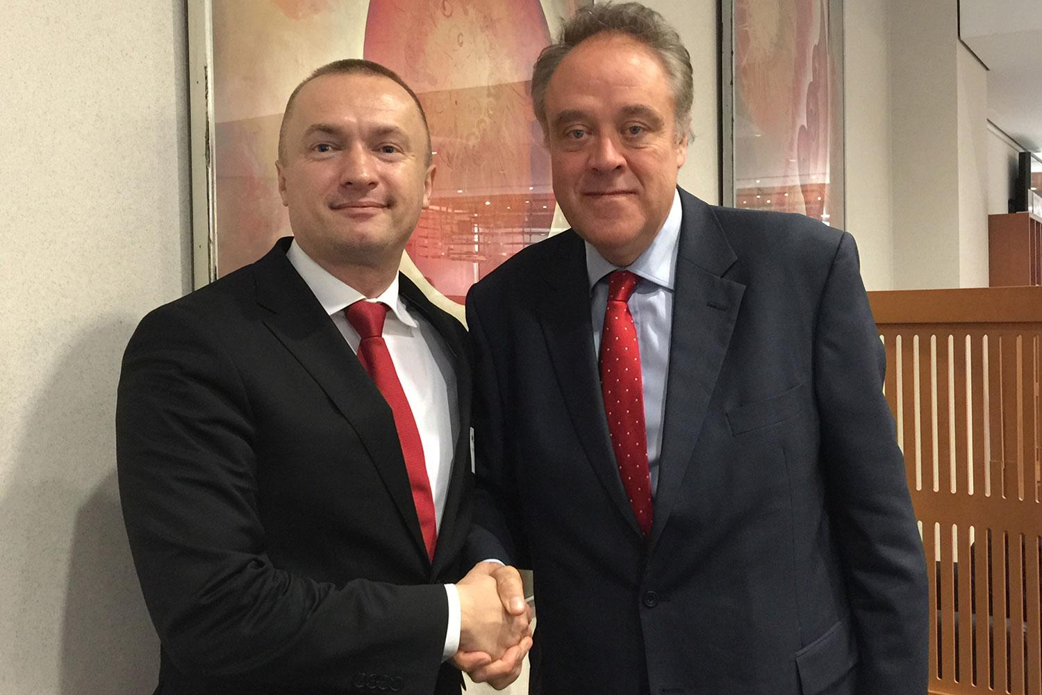 Bojan Pajtić, the President of the Democratic Party of Serbia and MEP Richard Howitt