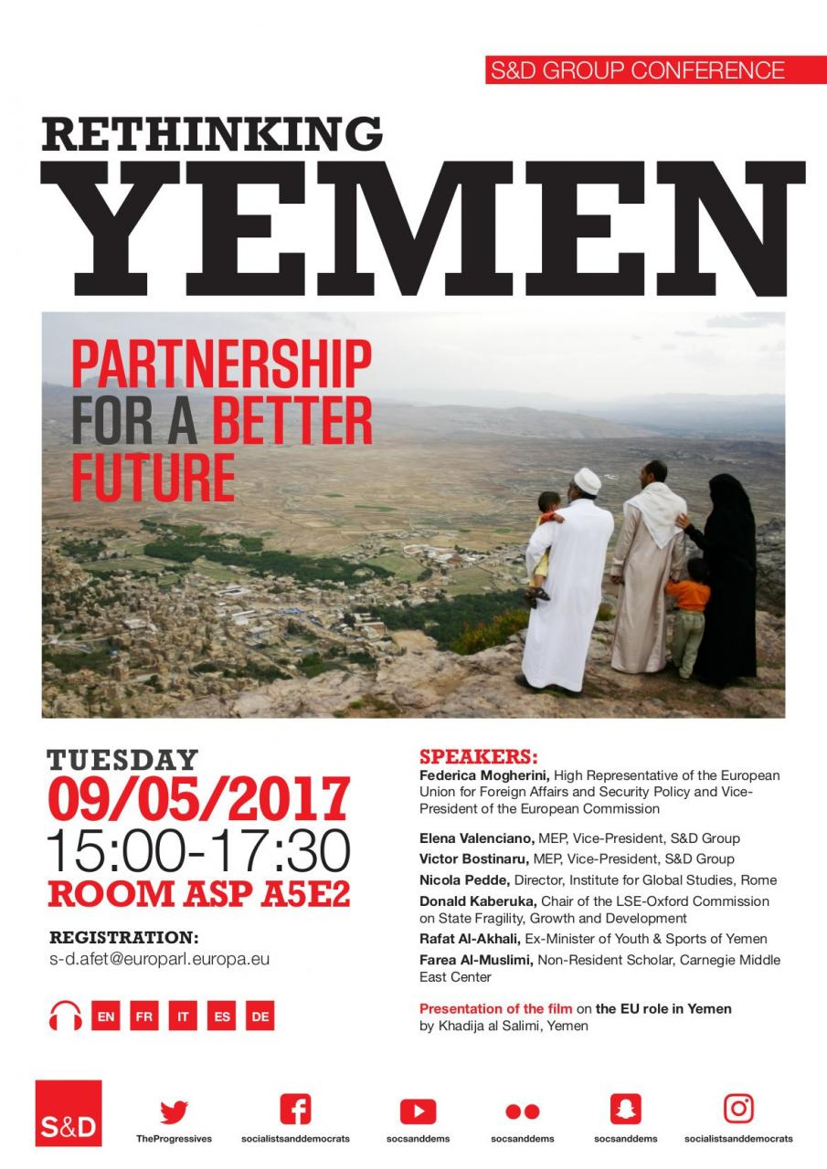 S&D Conference: Rethinking Yemen: Partnership for a Better Future, Elena Valenciano and Victor Boştinaru,