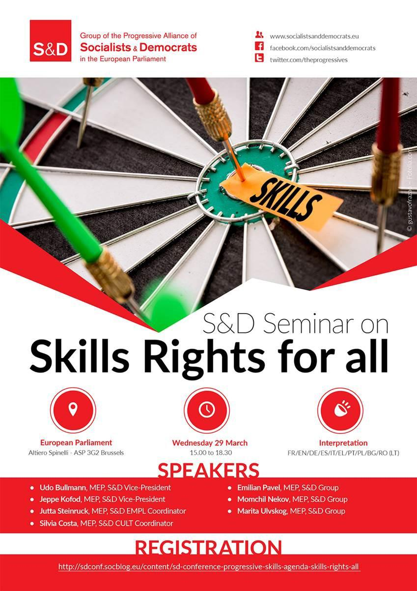 S&D Seminar - Progressive Skills Agenda: Skills Rights for All, #SocialRights,
