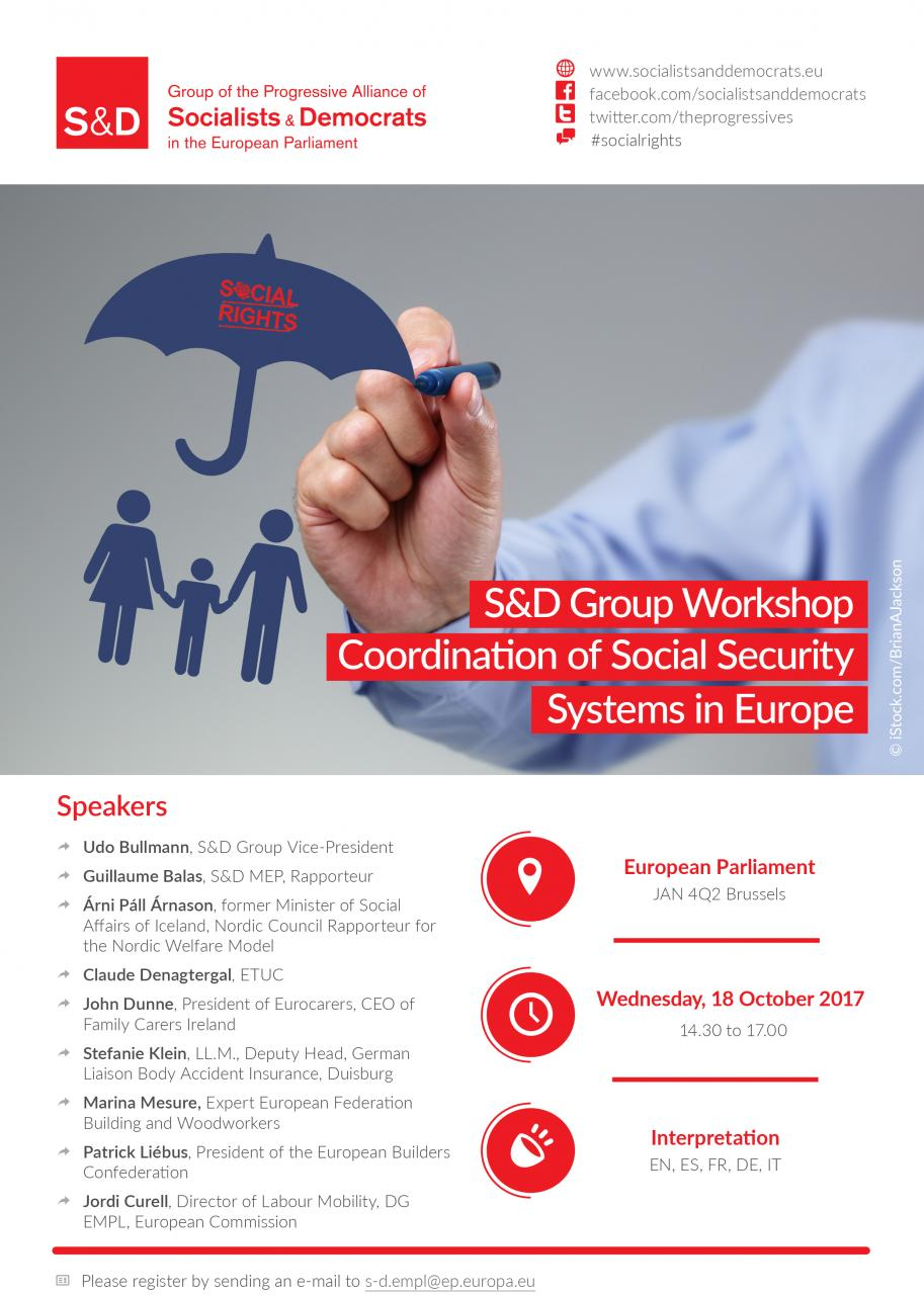 Poster: S&D Group Workshop: Co-ordination of Social Security Systems in Europe