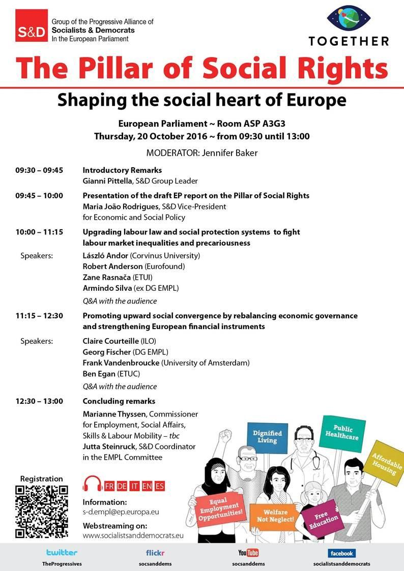 S&D Conference: the Pillar of Social Rights - Shaping the Social Heart of Europe