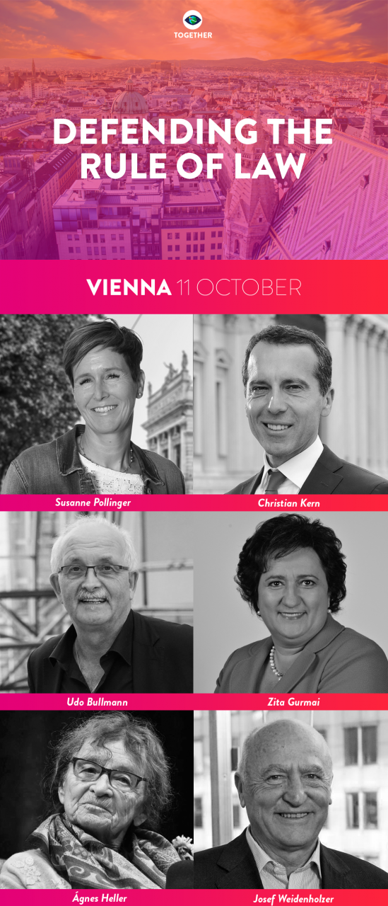 S&D MEPs Bullmann, Weidenholzer and Gurmai and guests at Vienna event