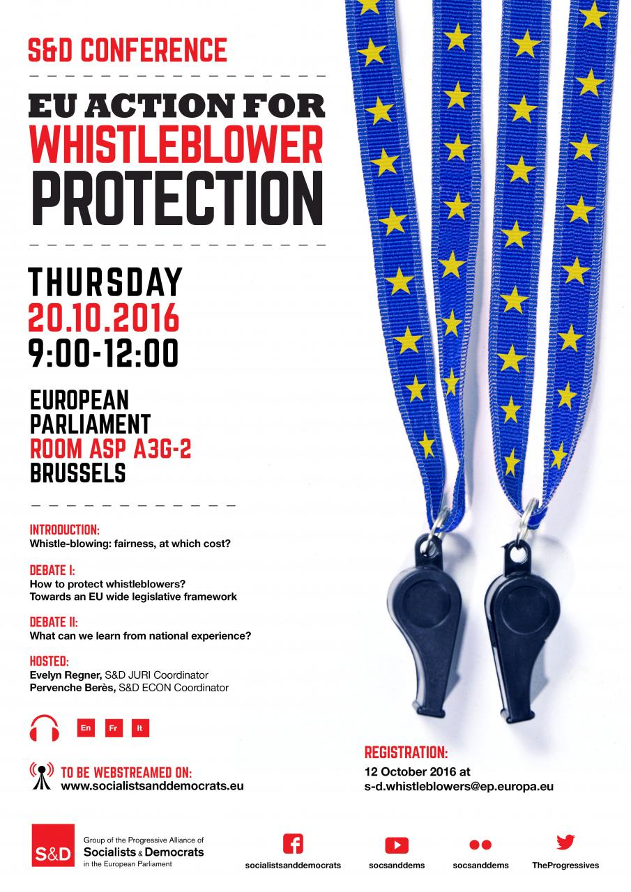 S&D Conference: EU Action for Whistleblower Protection