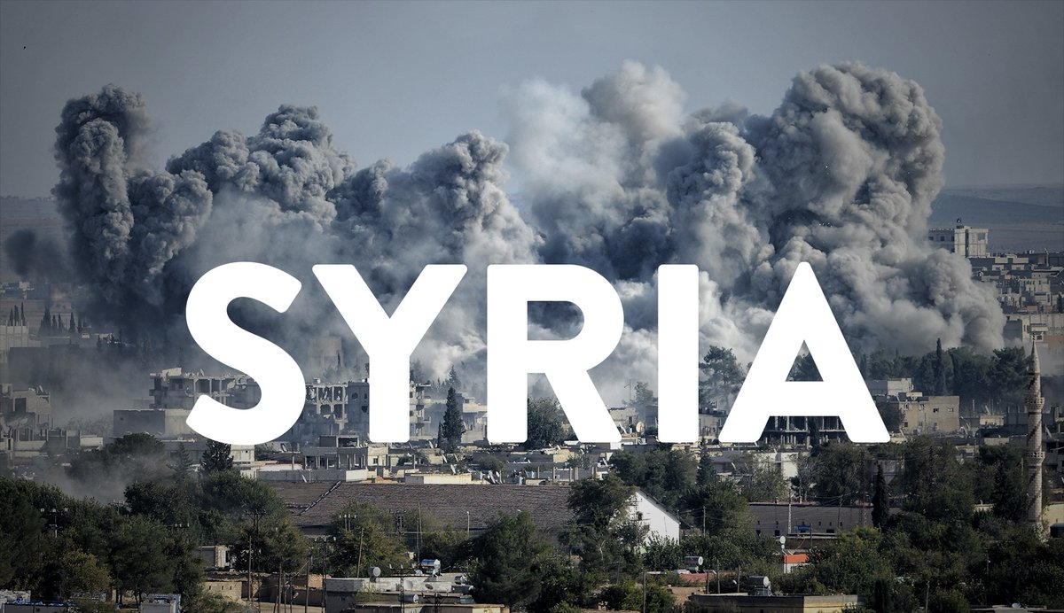 SYRIA typed over chemical bombed city