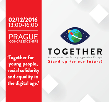 #EuropeTogether for young people, social solidarity and equality in a digital age