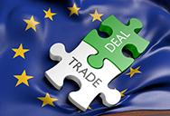 trade eu flag and puzzle