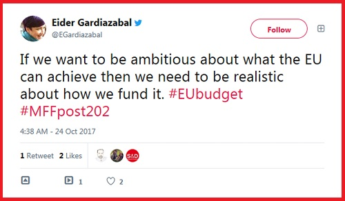 Tweet de Eider Gardiazabal