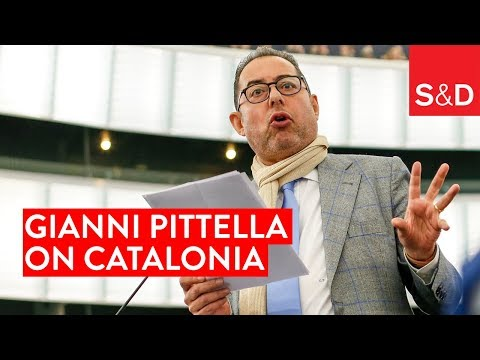 "Embedded thumbnail for ""This is the Time for Unity and Responsibility"" Gianni Pittella on Catalonia"