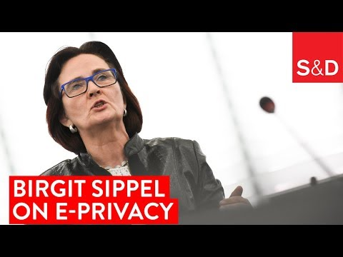 Embedded thumbnail for Birgit Sippel on E-Privacy