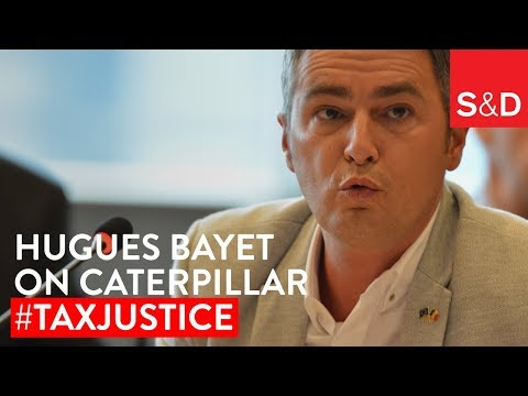 Embedded thumbnail for Hugues Bayet on Caterpillar and Tax Justice