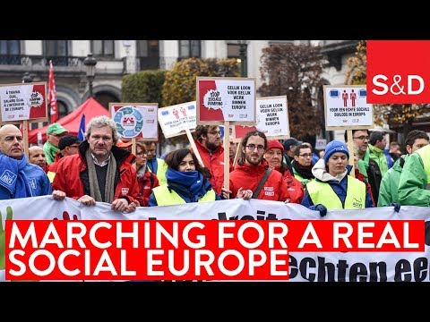 Embedded thumbnail for Marching for a Real Social Europe