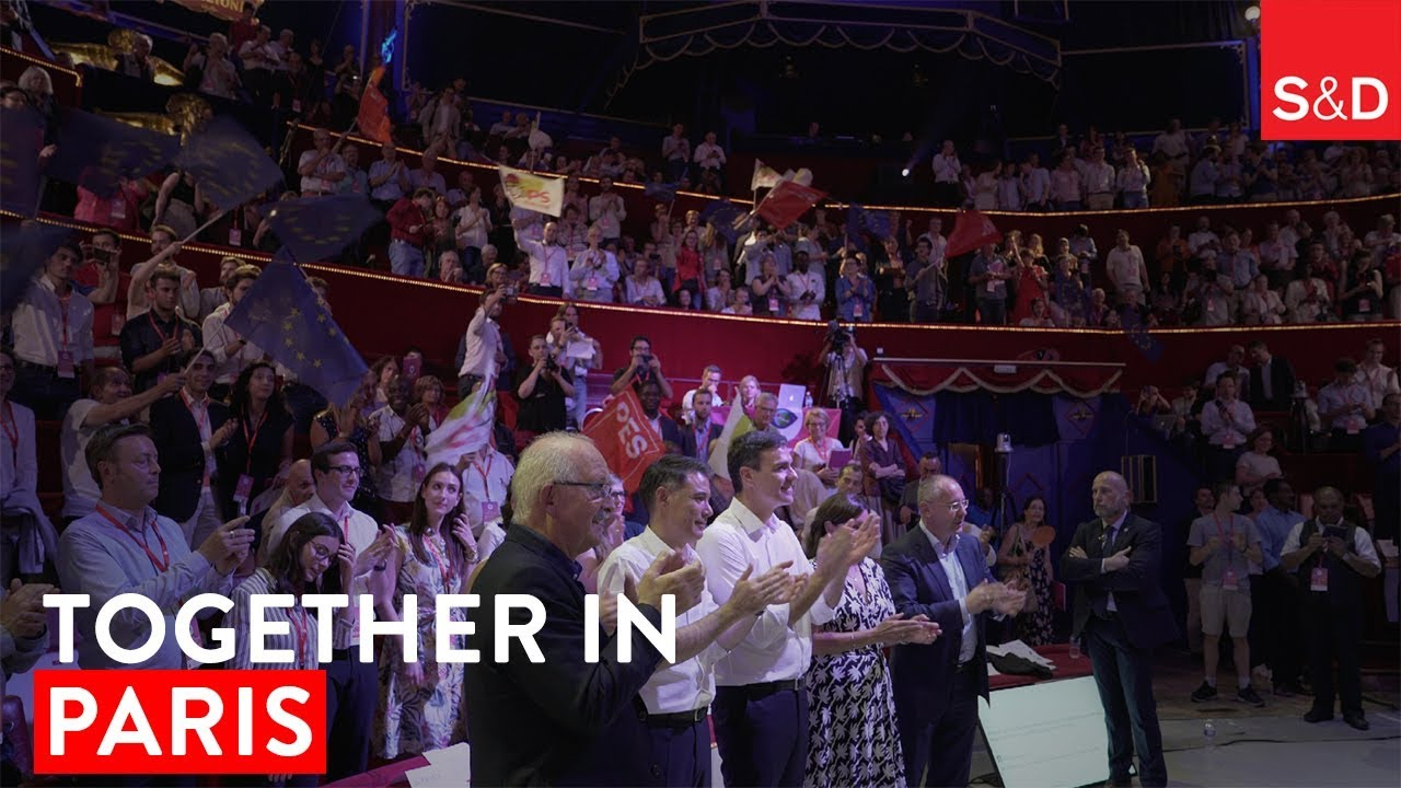 Embedded thumbnail for Pedro Sánchez and socialist leaders at the Together event in Paris