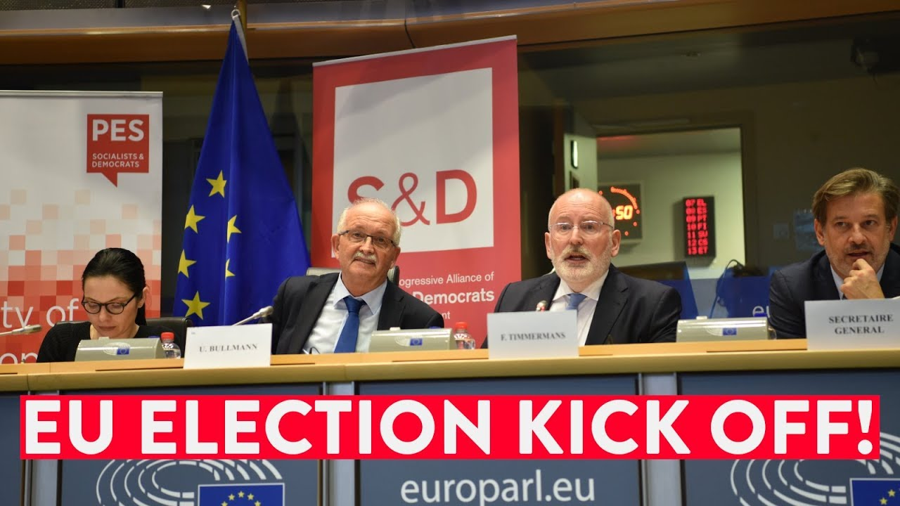 Embedded thumbnail for Bullmann and Timmermans on kick off our EU election | #EP2019