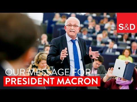 Embedded thumbnail for Udo Bullmann's Message for President Macron.